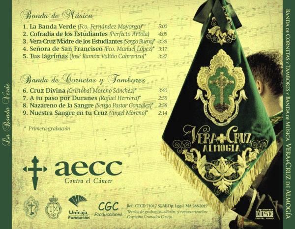Carátula trasera CD La Banda Verde