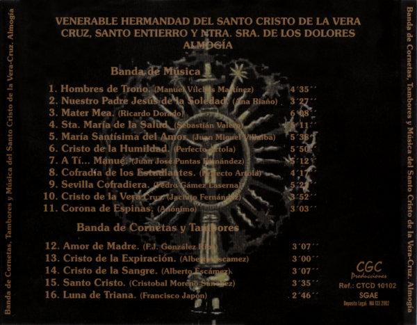 Carátula trasera CD Almogía